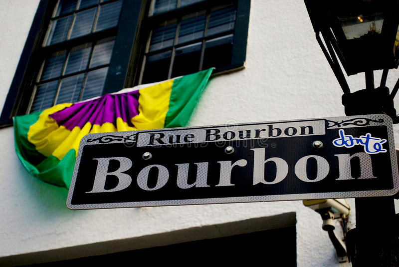 Bourbongata royaltyfri foto