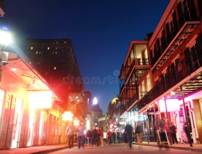Bourbongata i New Orleans royaltyfri fotografi