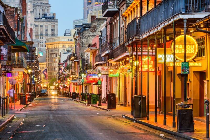 Bourbonstraat New Orleans stock foto