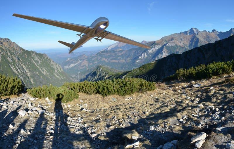 Bourdon aérien téléguidé de véhicule en vol photos libres de droits