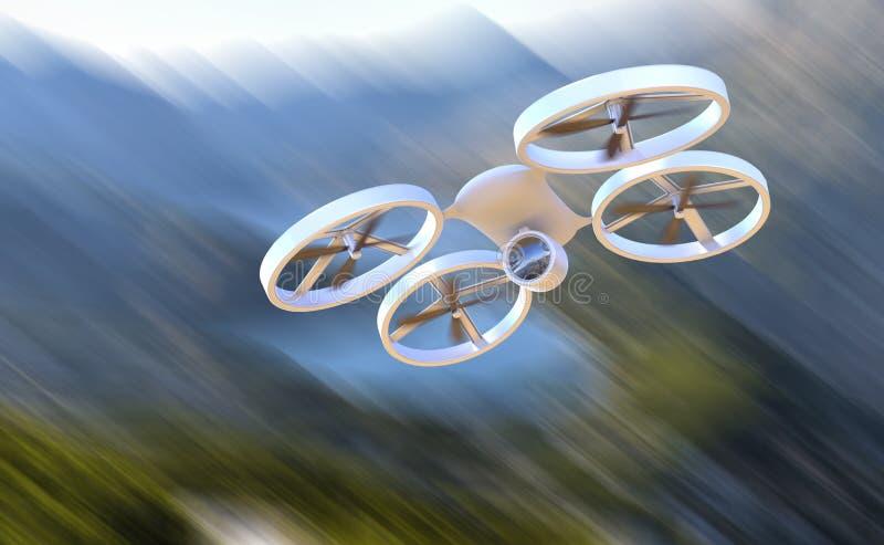 Bourdon aérien téléguidé de véhicule en vol photos stock