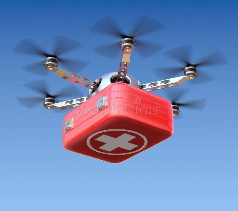 Bourdon avec le kit de premiers secours illustration de vecteur