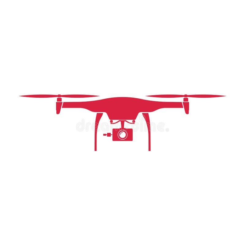 bourdon Colorez la conception plate rouge de vecteur avec le fond image libre de droits
