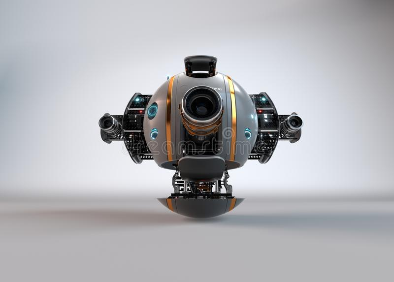 Bourdon d'appareil-photo de vol robot droid illustration stock