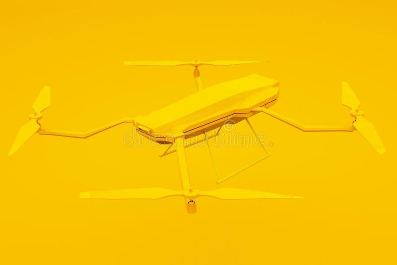 Bourdon d'isolement sur le fond jaune illustration 3D illustration stock