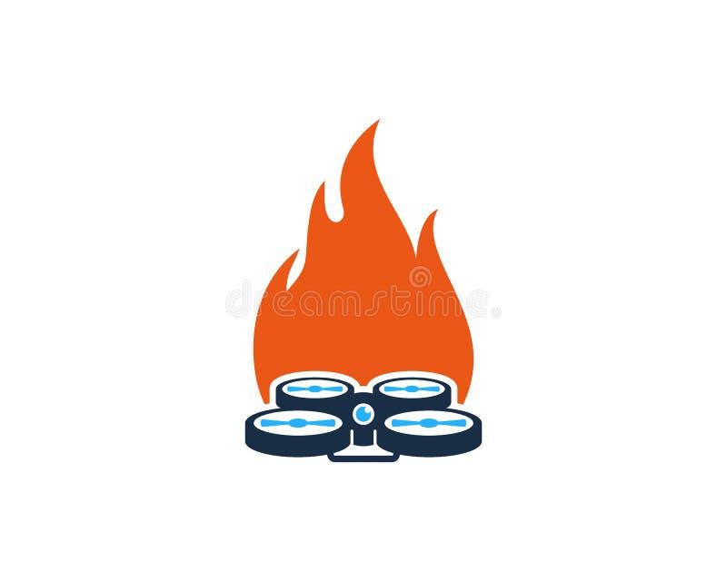 Bourdon Logo Icon Design de brûlure illustration libre de droits