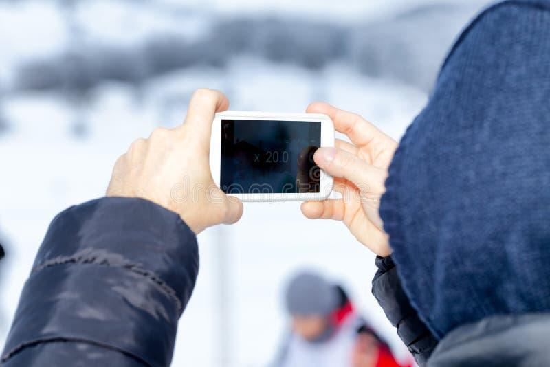 Bourdonnement d'appareil-photo de Smartphone images libres de droits