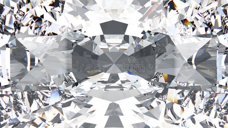 bourdonnement de texture de diamant de culture de plan rapproché de l'illustration 3D macro illustration libre de droits