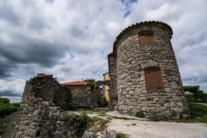 Bourdonnement, Istria, Croatie images stock