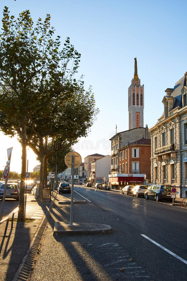 Bourg de Peage, France. Bourg de Peage is a commune in the Drome department and in the Auvergne Rhone Alpes region in southeastern France royalty free stock image