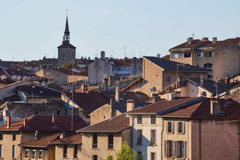 Bourg de Peage village, France. Bourg de Peage is a commune in the Drome department and in the Auvergne Rhone Alpes region in southeastern France royalty free stock image