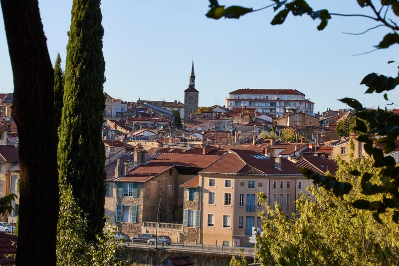 Bourg de Peage village, France. Bourg de Peage is a commune in the Drome department and in the Auvergne Rhone Alpes region in southeastern France royalty free stock images