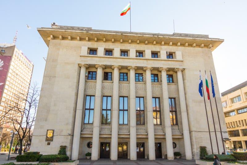 Bourgas,保加利亚的城市管理的大厦 库存图片
