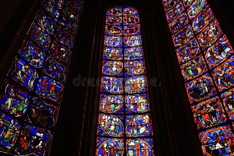 Bourges domkyrka - Frankrike arkivfoton