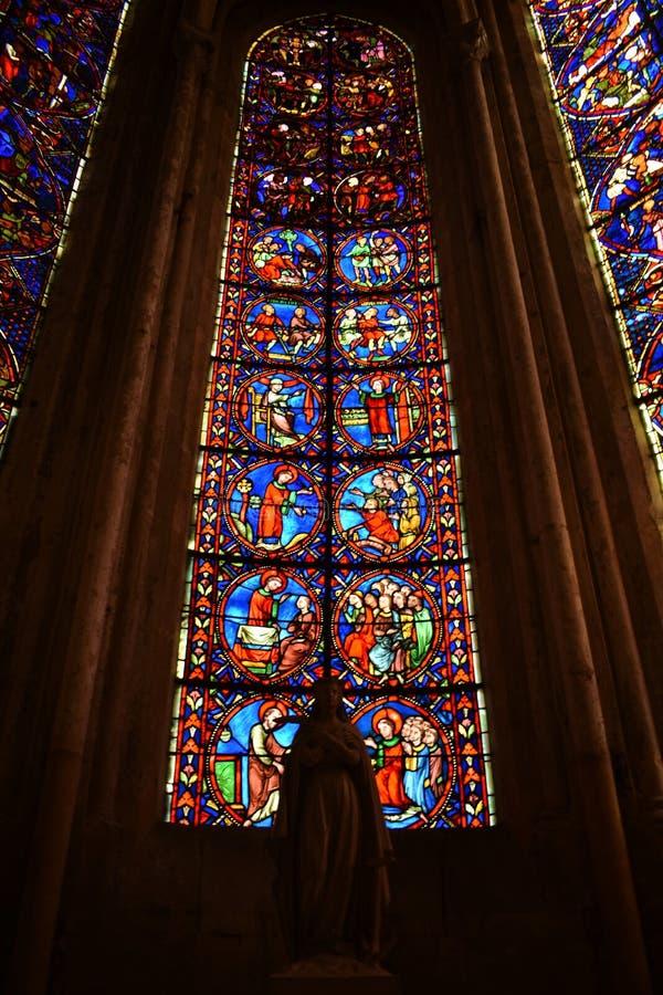 Bourges domkyrka - Frankrike royaltyfria foton