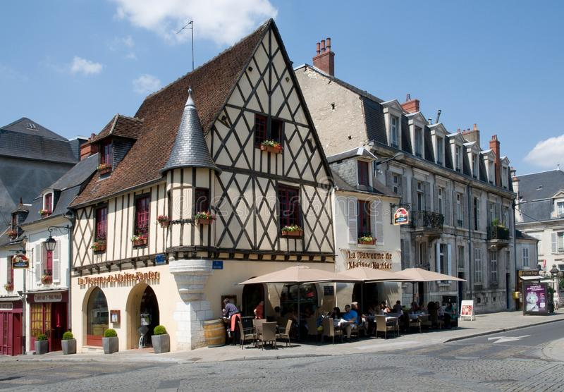 Bourges, Frankrijk stock foto's