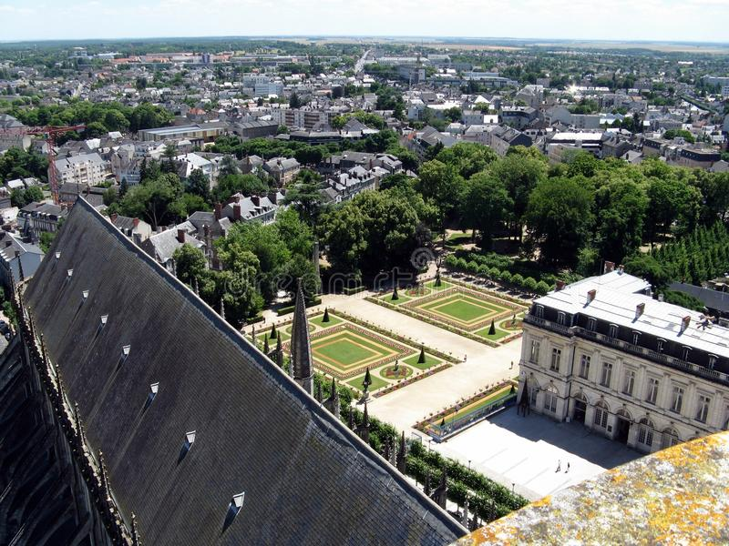 Bourges landscape royalty free stock photo