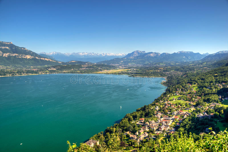Bourget lake. Near Chambery and Chambery is the biggest lake of France stock photos