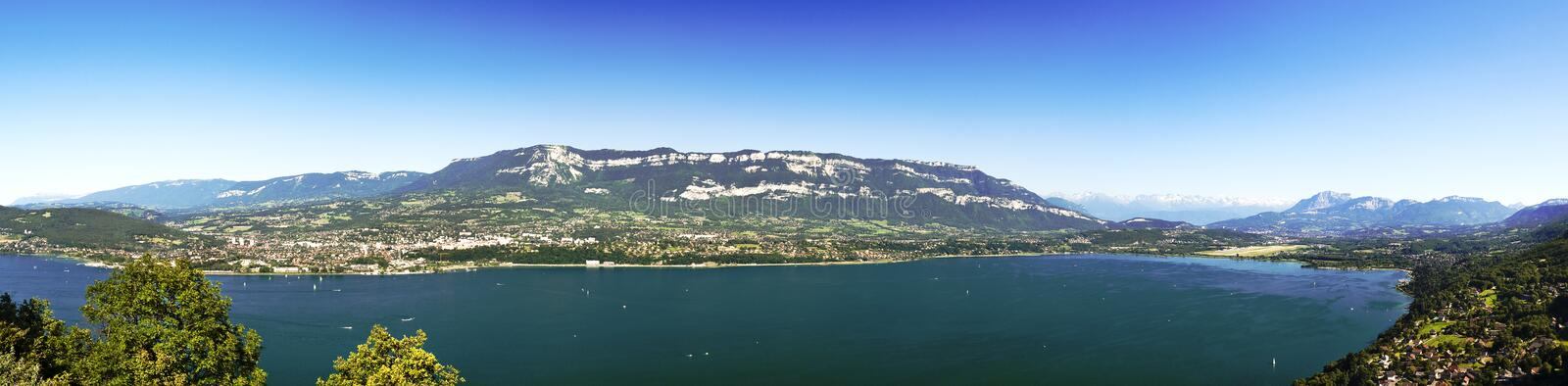 Bourget lake. Near Chambery and Chambery is the biggest lake of France royalty free stock image