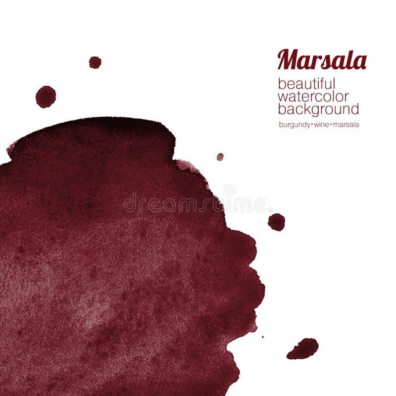 Bourgogne, vin, fond d'aquarelle de marsala illustration libre de droits