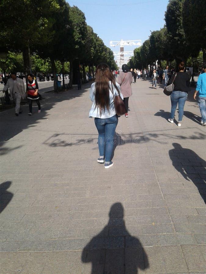 bourguiba Habib avenu στοκ φωτογραφία με δικαίωμα ελεύθερης χρήσης