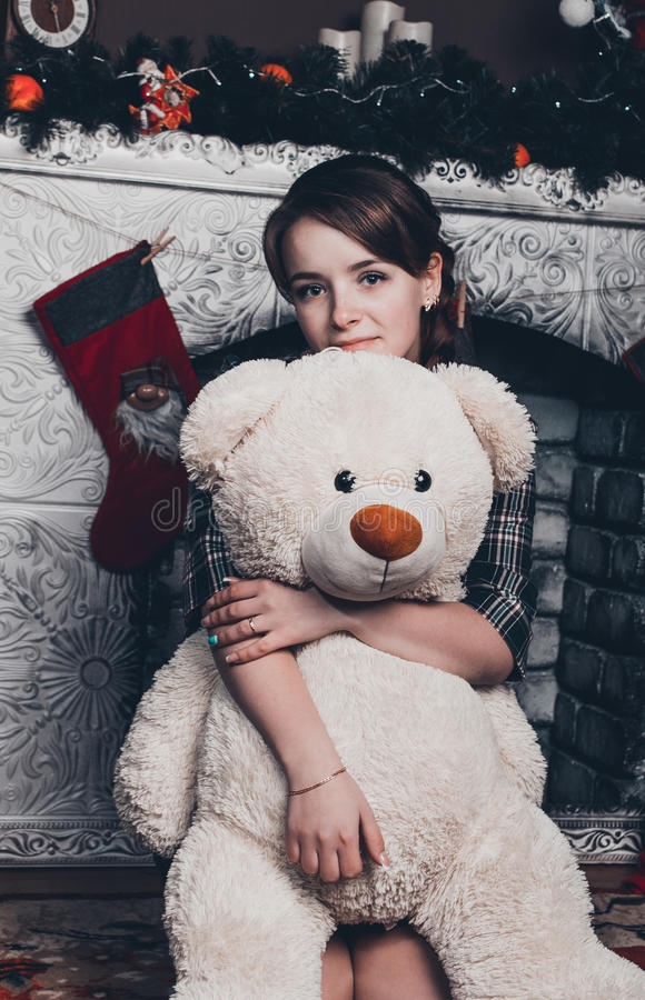 Bouring flicka i svartvitt royaltyfria foton