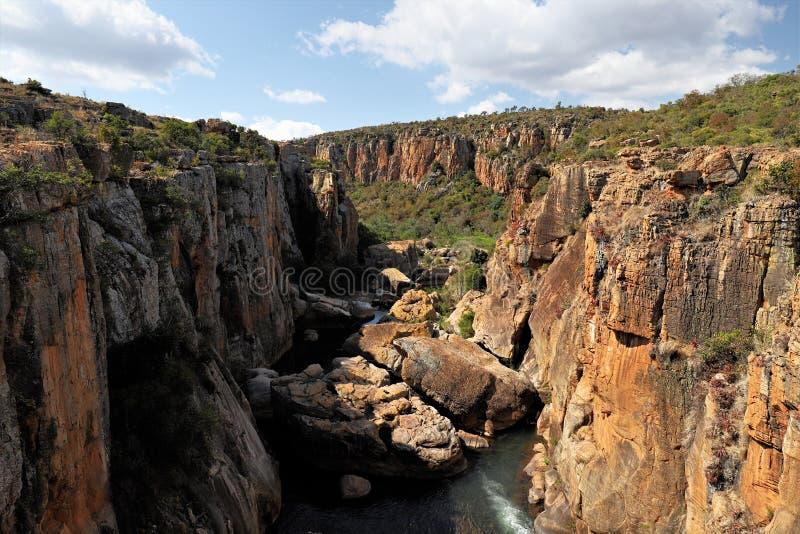 Bourke ` s运气坑洼,布莱德河峡谷,普马兰加省,南非 免版税库存图片