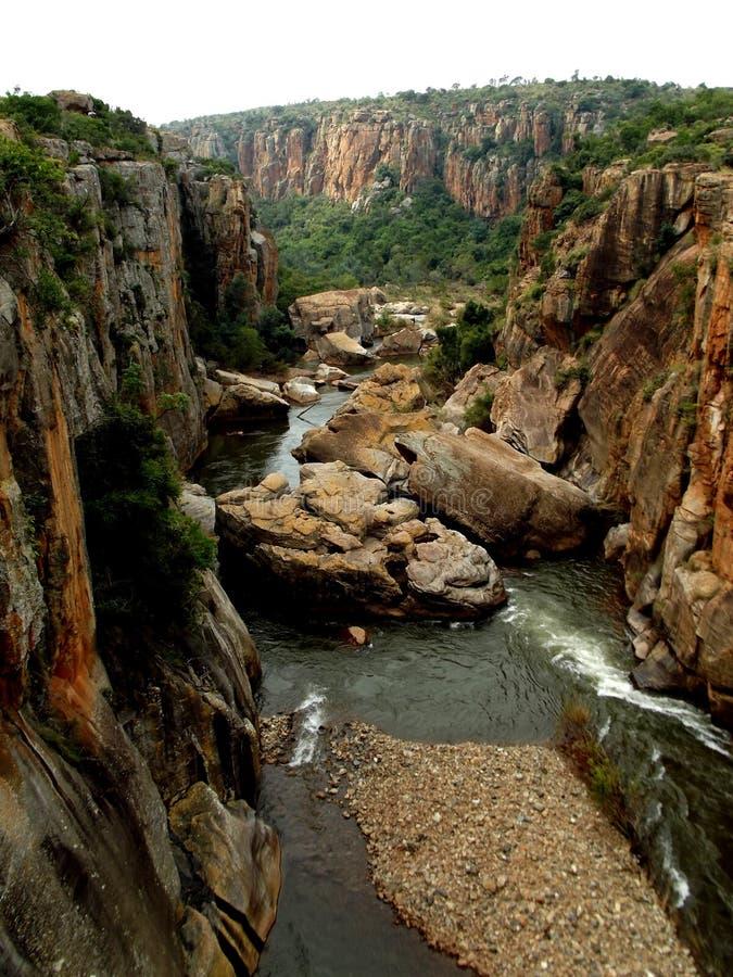 Bourke ` s运气坑洼布莱德河南非 免版税库存照片