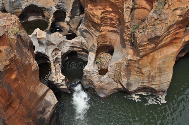 Bourke's Luck Potholes,Blyde canyon,Africa. One of the world's beautiful geological phenomena in Blyde river canyon in South Africa stock photos