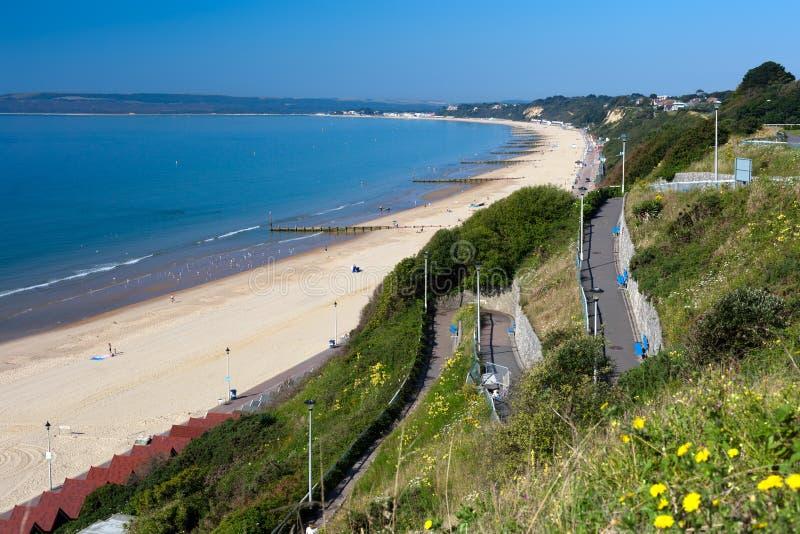 Bournemouth Beach To Sandbanks Royalty Free Stock Image