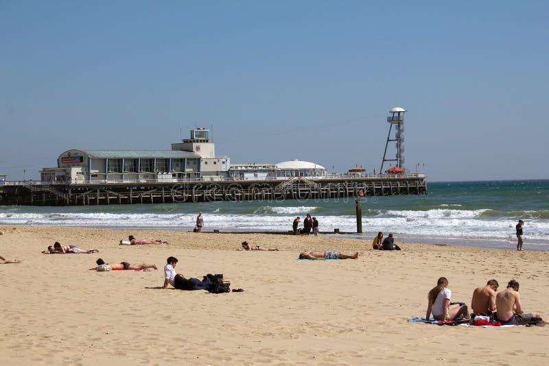 Bournemouth molo obraz royalty free