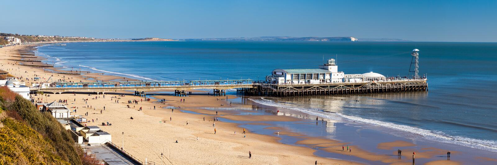 Bournemouth Pier Dorset photographie stock