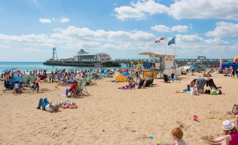Bournemouth plaża obraz stock