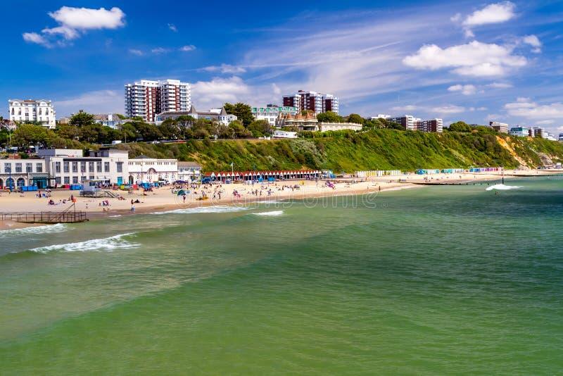 Bournemouth strand Dorset arkivbilder