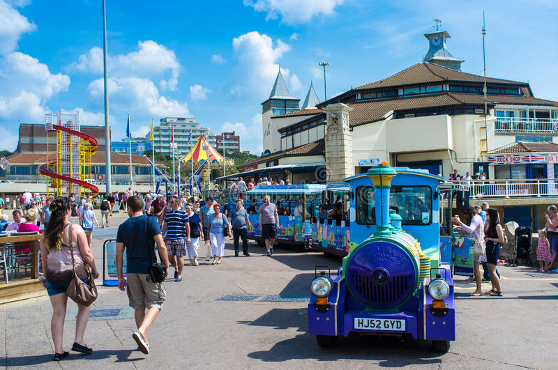 Bournemouth, United Kingdom. A view of Bournemouth, United Kingdom during the summer stock photo
