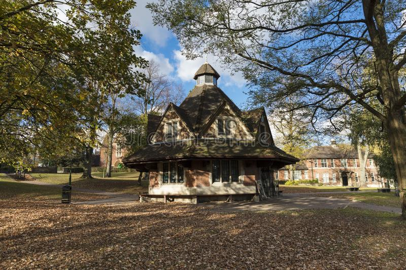Bournville, Birmingham, UK, October 29th 2018, The Rest House on. The Green royalty free stock images
