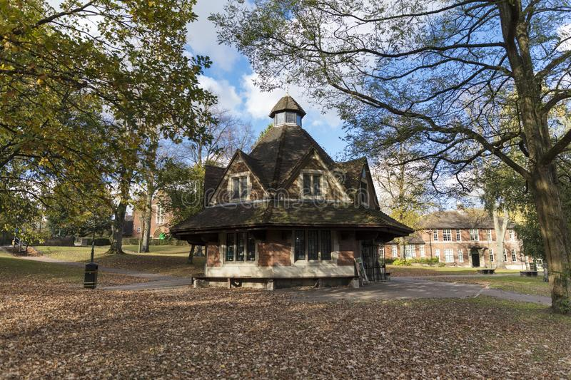 Bournville, Birmingham, UK, October 29th 2018, The Rest House on. The Green royalty free stock photography