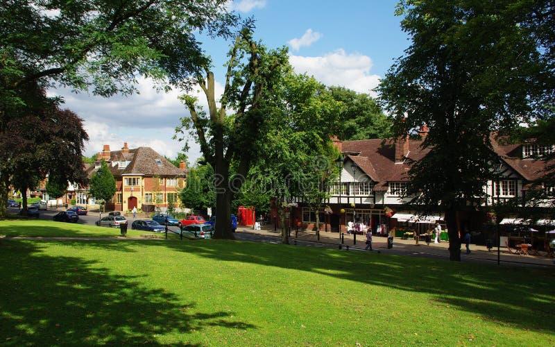 Bournville Village Green, Birmingham, Regno Unito immagini stock