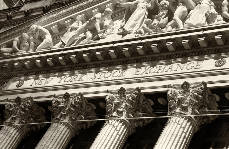 Bourse de New York Wall Street image libre de droits