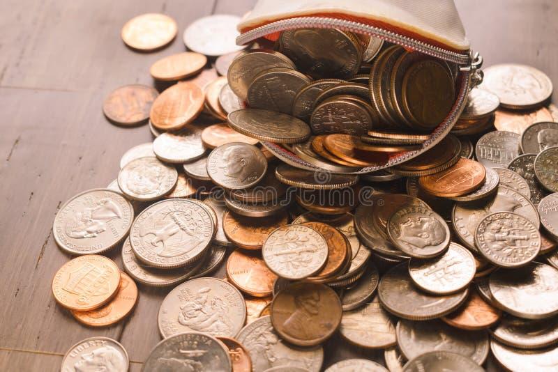 Bourse de pièce de monnaie de femmes photos stock