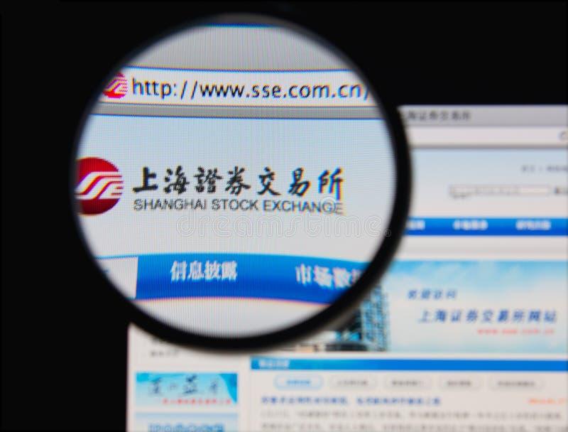Bourse des valeurs de Changhaï images libres de droits