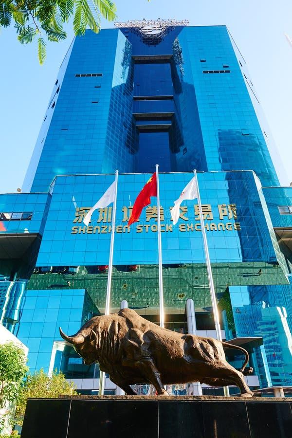 Bourse des valeurs de Shenzhen images libres de droits