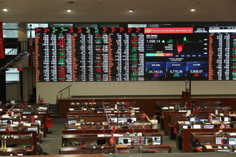 Bourse des valeurs philippine images libres de droits