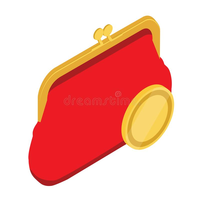 Bourse rouge illustration stock