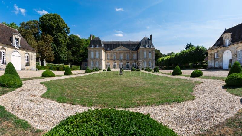 Boury城堡在瓦兹省在法国 免版税库存图片