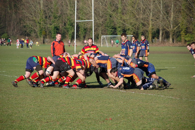 bousculade de rugby photo stock