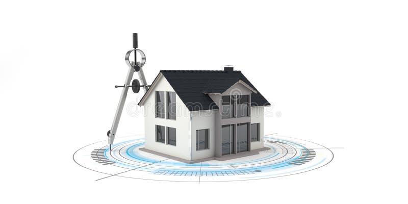 Boussole de construction de construction de logements illustration stock