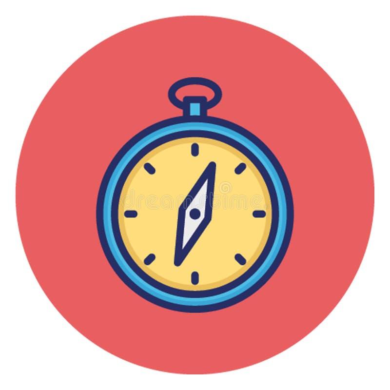Boussole, instrument directionnel, icône de vecteur qui peut facilement éditer illustration stock