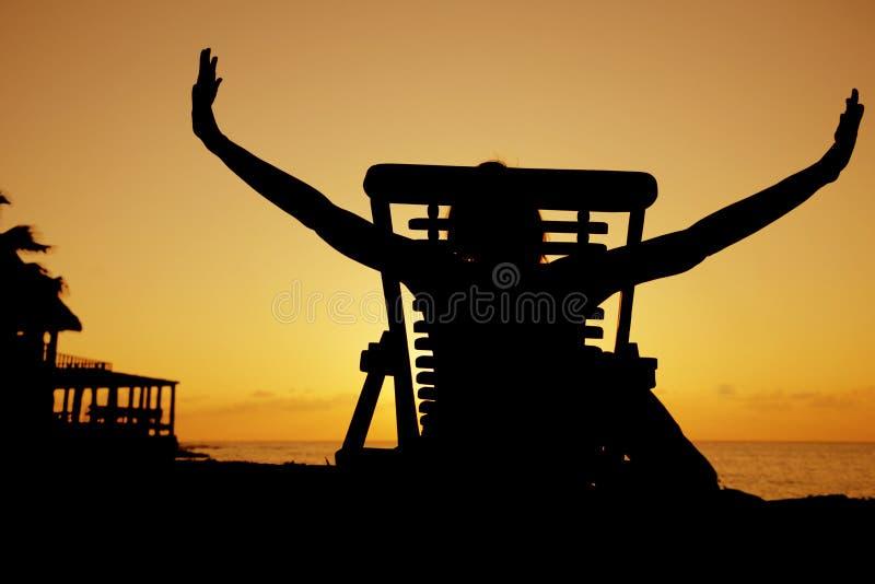 Bout droit de coucher du soleil photo stock