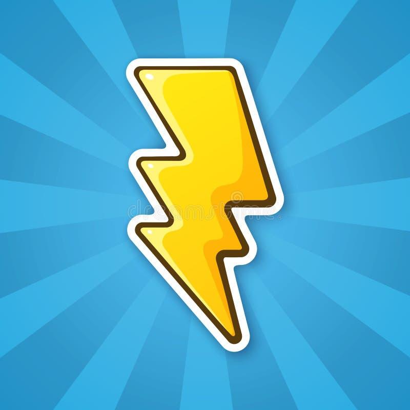 Bout van de sticker de elektrische bliksem vector illustratie